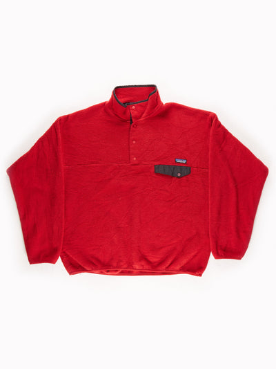Patagonia Fleece Pullover Red / Black Size XL
