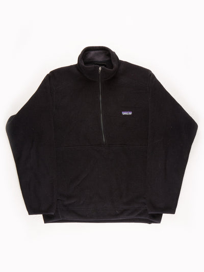 Patagonia Fleece Pullover Black Size Medium