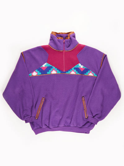 Activity Patterened Fleece / Purple / Blue / Pink / Size XL