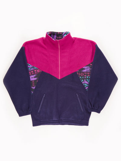 Sport Generation 2001 Patterened Fleece / Pink / Blue / Size Large