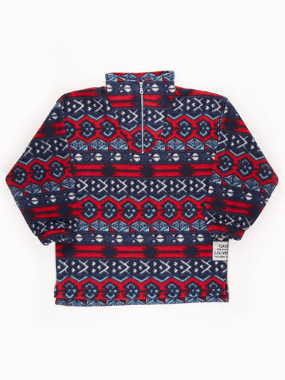 SOliver Patterened Fleece Blue / White / Red / Size Large