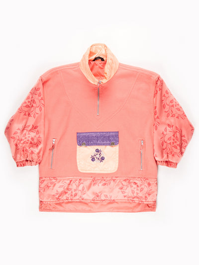 C&A Patterened Fleece / Pink / Purple / Size Large