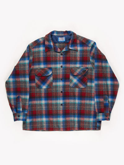 Pendleton Flannel Shirt / Blue / Red / Size XL