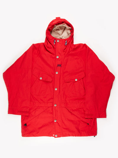 Helly Hansen Jacket With Embroided Sripe Detail / Red / White / Blue Size XL
