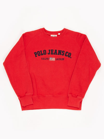 Polo Ralph Lauren Sweatshirt / Red / Size Small