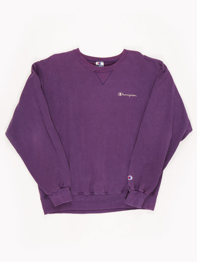 Champion Sweatshirt Purple / Size XL