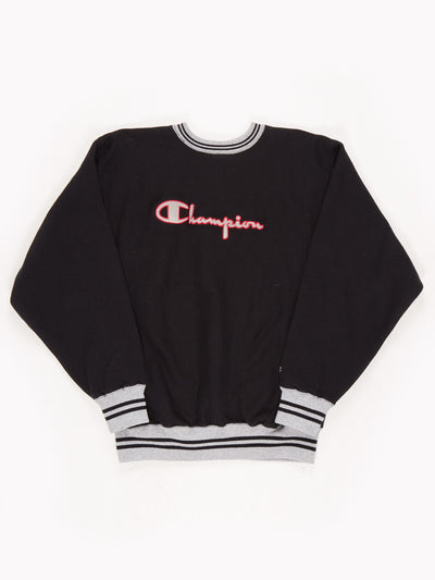 Champion Sweatshirt Black / Grey / Red / Size XL