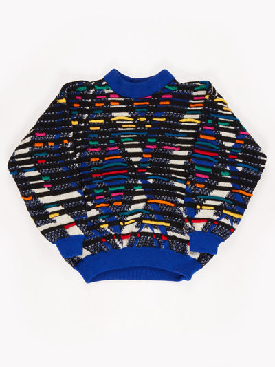 Coogi Australia Multi-Coloured Jumper / Blue / White / Green / Yellow / Size Large