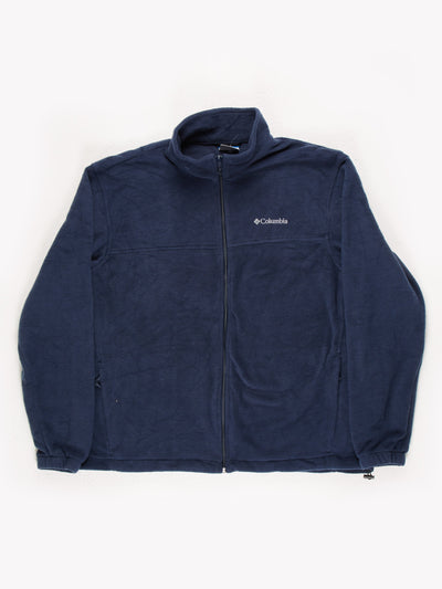 Columbia Fleece with Drawstring Hem Navy Size XL
