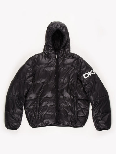 DKNY Puffer Coat Black Size XL