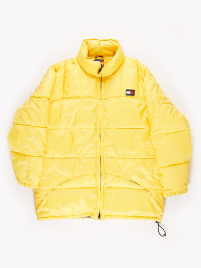 Tommy Hilfiger Puffer Coat Yellow Size XL
