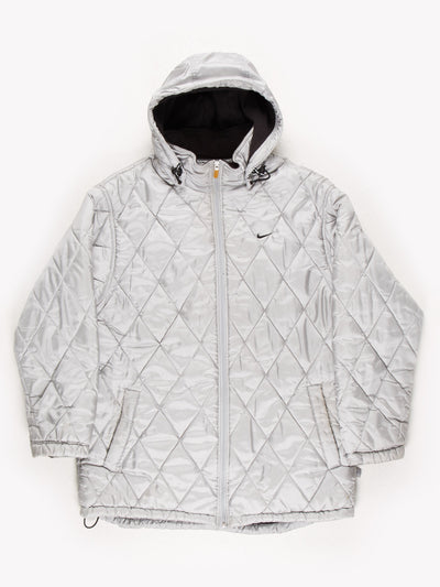 Nike Puffer Coat Silver Size Large