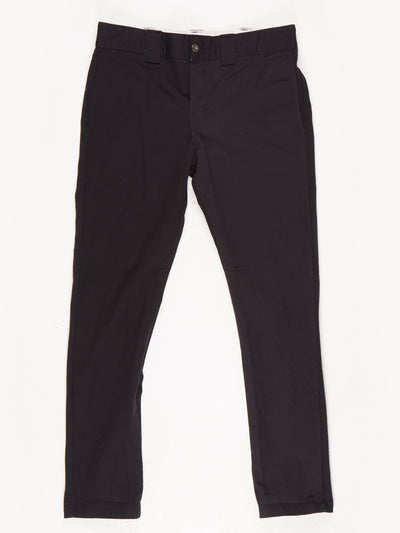 Dickies Slim Skinny Workwear Trousers / Black / Size w31 l30
