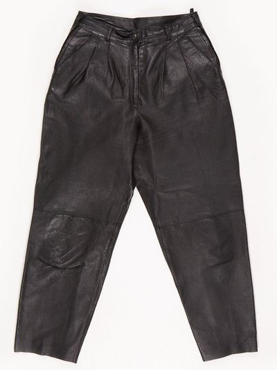 Leather Trousers / Black / Size