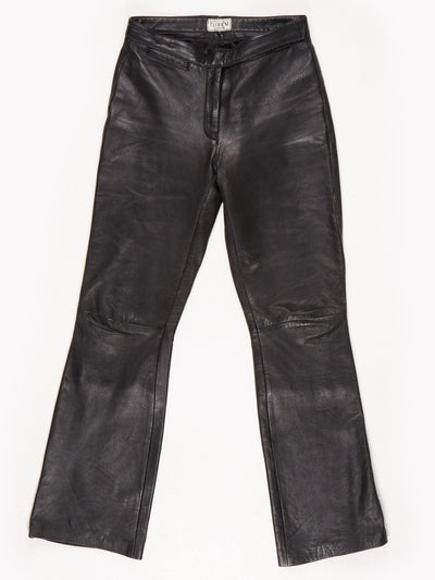 Teodem London Leather Trousers / Black / Size M