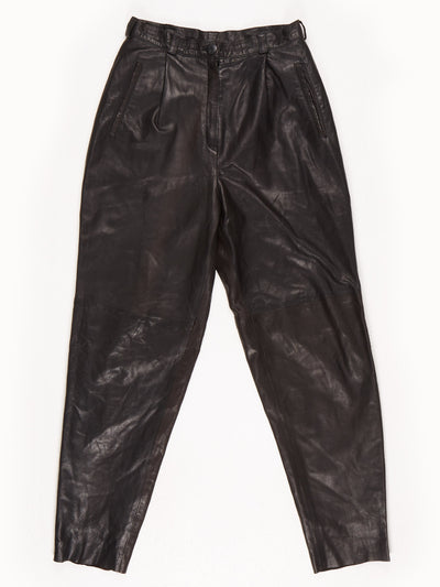 Giorgio Lorati Leather Trousers / Black / Size 40