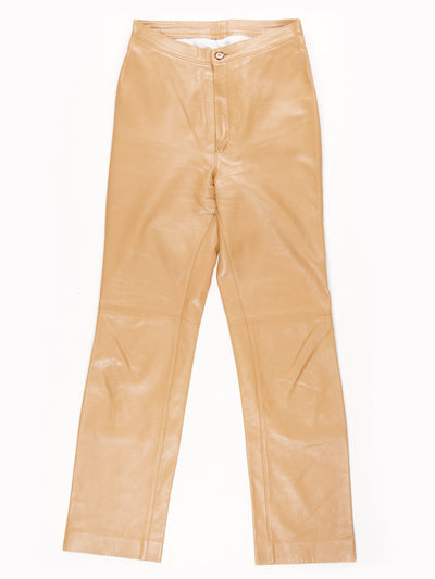Leather Trousers / Brown / Size 26x30