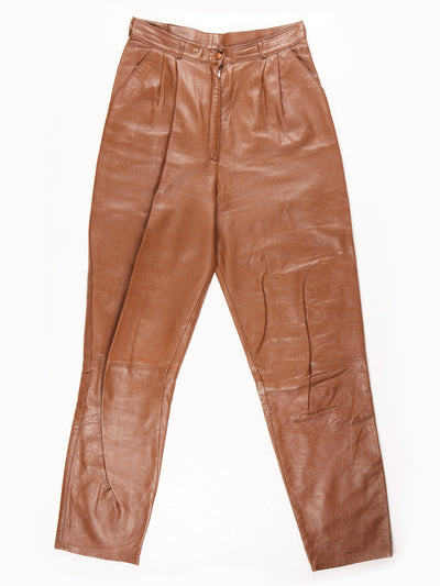Leather Trousers / Brown / Size 28x29