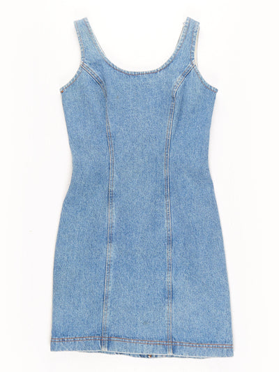 Denim Mini Dress Blue