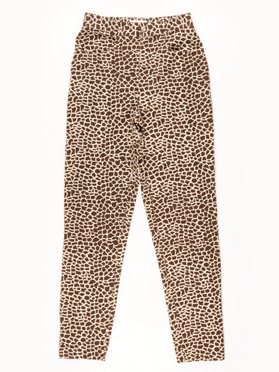 Mexx Animal Print Trousers / Light Brown / Dark Brown / Size 10