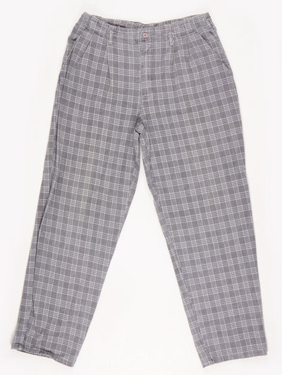 Checked Trousers / Grey / Black