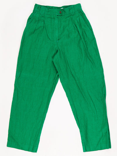 High Waist Trousers / Green / Size 10