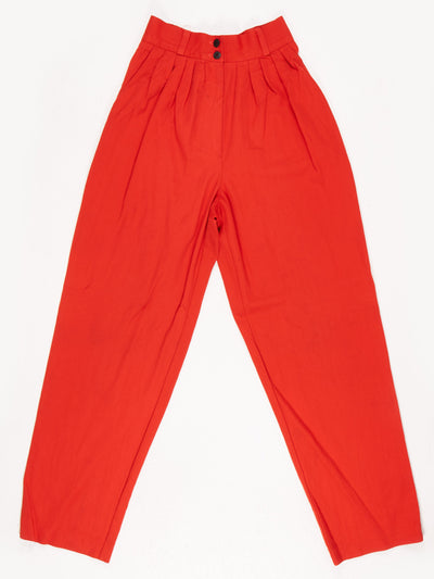 Red High Waist Trousers / Size 4