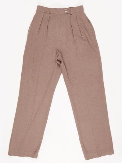 High Waist Trousers / Brown / Size 6