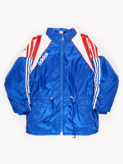 Adidas Padded Jacket / Blue / White / Red Size Large