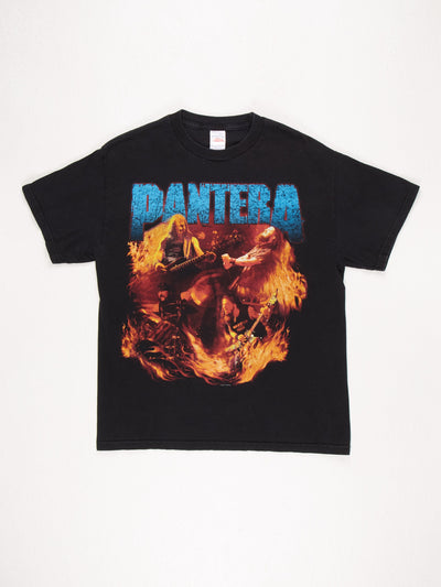 Pantera 2001 T-Shirt / Black / Blue / Orange / Size Large