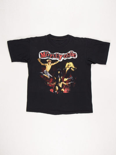 Motley Crue T-Shirt / Black / Red / Yellow / White / Size Large