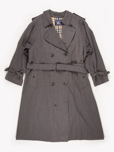 Burberry Trench Coat / Grey / Size XS