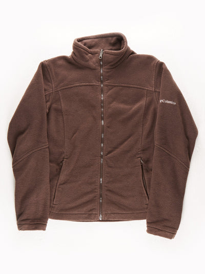 Columbia Zip Up Fleece / Brown / Size XL