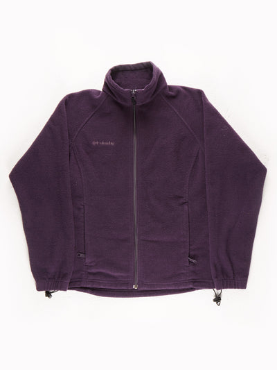 Columbia Drawstring Hem Fleece with Front Pocket / Purple / Size Small