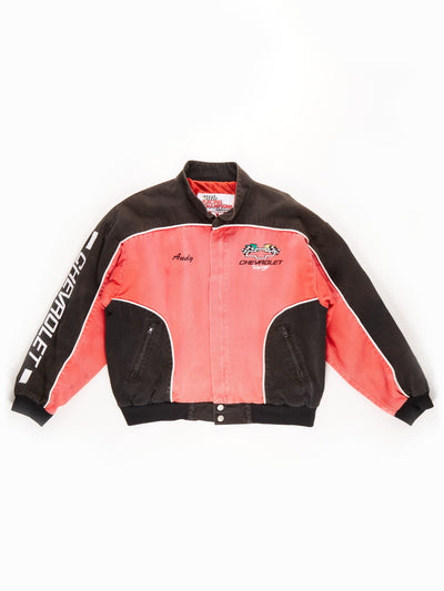 Nascar 'Chevrolet' Racing Jacket / Black / Red / Size Medium