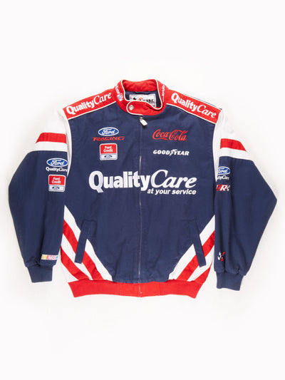 Nascar 'Ford' Racing Jacket / Blue / Red / White / Size Medium