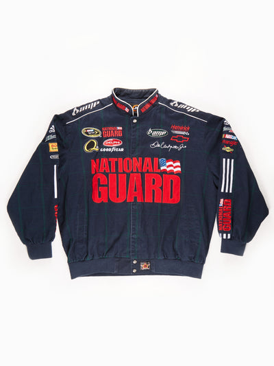 Nascar 'National Guard' Racing Jacket / Navy / Red / Green