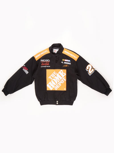 Nascar 'The Home Depot' Racing Jacket / Black / Orange / White / Size Large