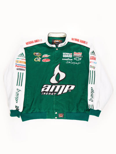 Nascar 'AMP Energy' Racing Jacket / Green / White