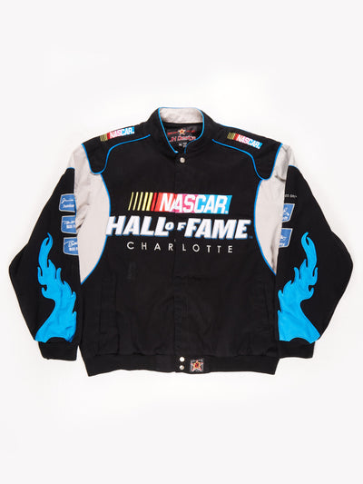 Nascar 'Hall of Fame' Racing Jacket / Black / Blue / Size XXL