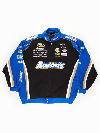 Nascar 'Aaron's' Racing Jacket / Black / Blue / White