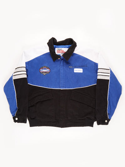 Nascar 'Lowe's' Racing Jacket / Blue / Black / White / Size Large