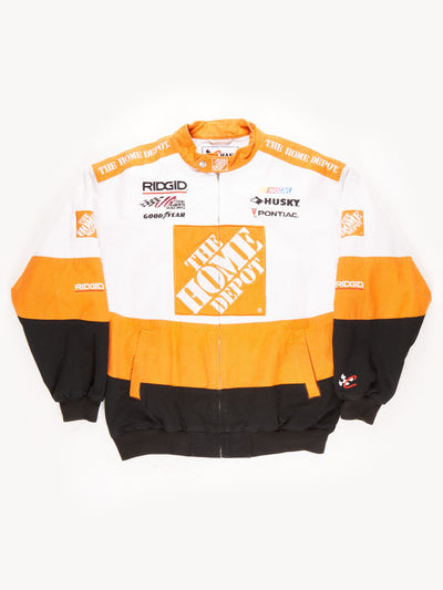 Nascar 'The Home Depot' Racing Jacket / White / Orange / Black / Size Large
