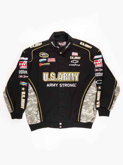 Nascar 'US Army' Racing Jacket / Black / Yellow / Green