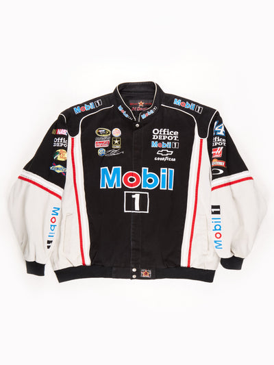 Nascar 'Mobil 1' Racing Jacket / Black / Grey / White