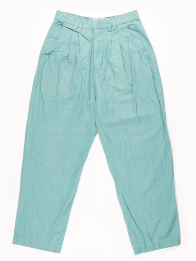 High Waisted Mom Style Trousers / Pastel Green  / UK12