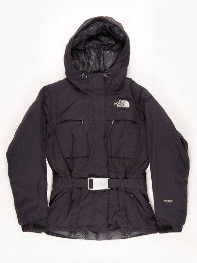 The North Face HyVent Belted Padded Hooded Coat / Black / Small