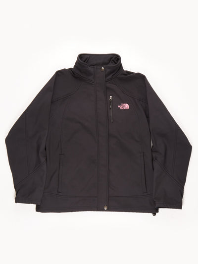 The North Face Zip Fleece / Black / Pink / Large