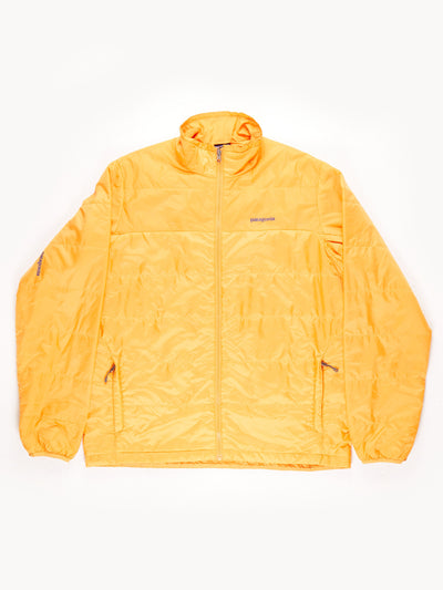 Patagonia Padded Zip Up Jacket / Orange / Large