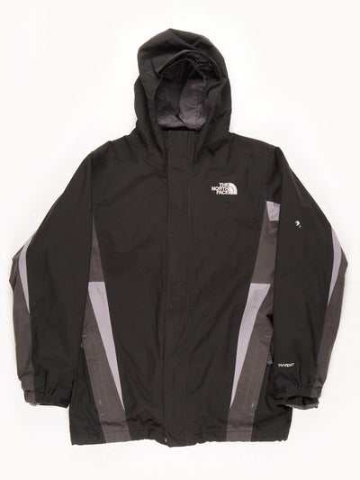 The North Face HyVent Waterproof Jacket / Black / Grey / Large